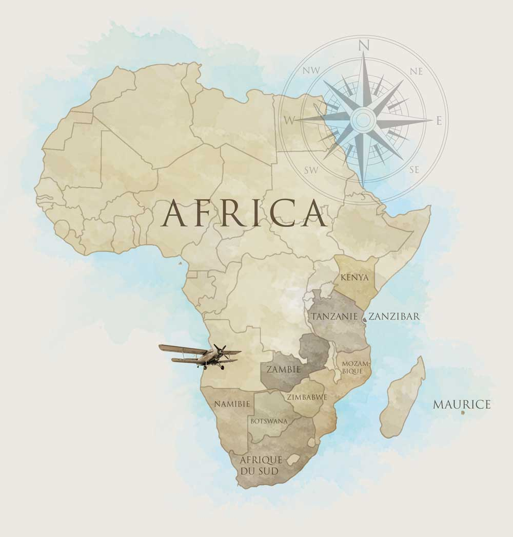 French Africa Map.Africa Map French Azania Voyages